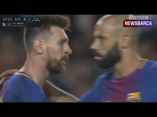 Барселона 4-1 Эйбар Месси дубль