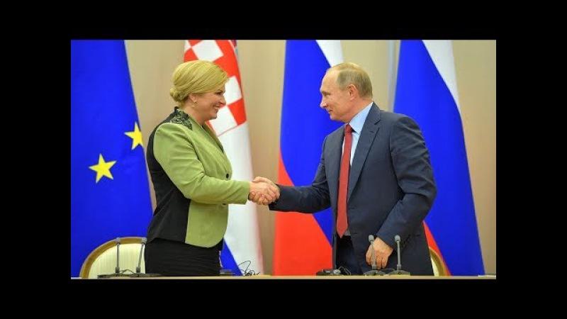 Vladimir Putin Kolinda Grabar Kitarovic Statements