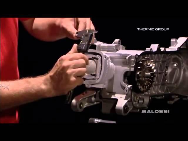 Сборка мотора Piaggio Hiper