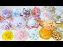 Мастер Класс Цветы из ткани простым способом Готовые работы броши резинки для волос ободок