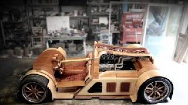 Five Years Creating Splinter Sprouts Wooden Sports Car