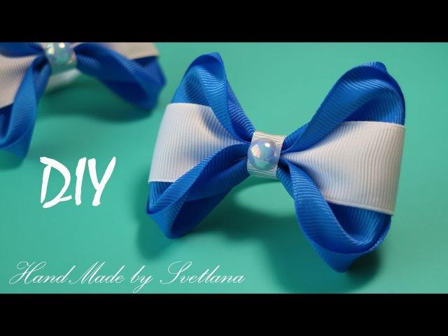 Резинки для волос с бантиками из репсовых лент Бантики Канзаши Grosgrain ribbon hair bow