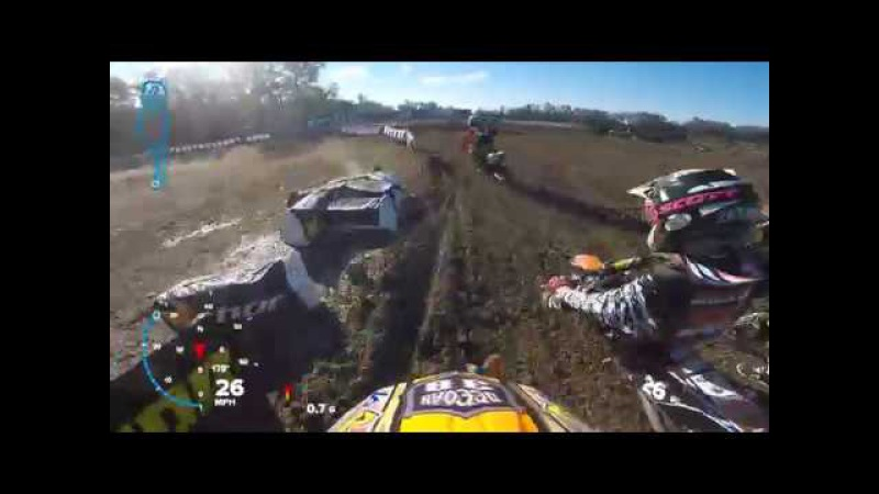 Awesome last lap pass for the WIN With the Dangerboy Deegan Gopro Helmet Cam Minio's 2017