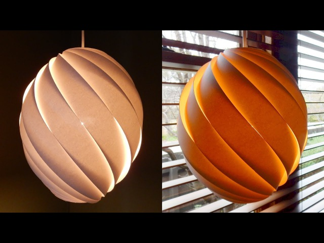Swirl pendant lamp - how to make a spiral paper lampshadelantern - EzyCraft