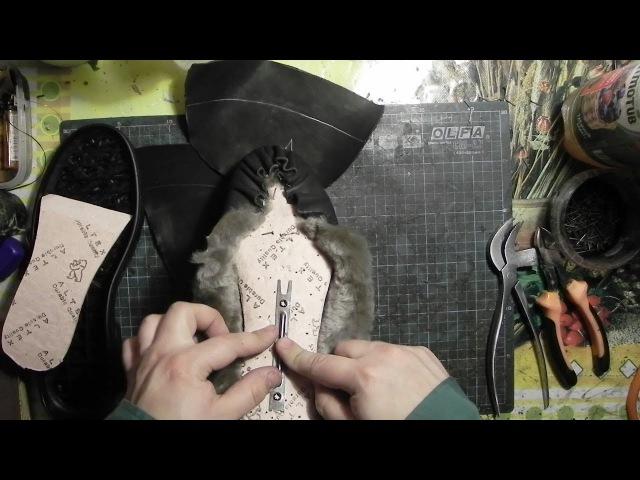 Мастер-класс №18. Зимние ботинки. Часть 9. Winter boots master class
