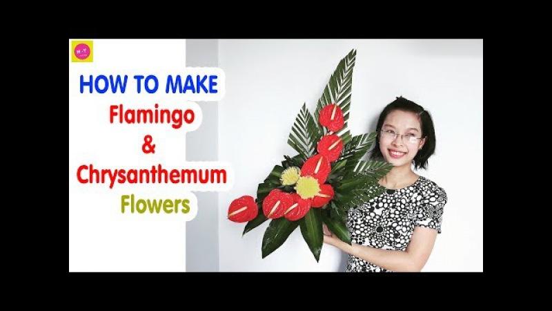 Cắm hoa bàn thờ tập 45 HOA HỒNG MƠN HOA CÚC VÀNG Cắm hoa Ngày Tết