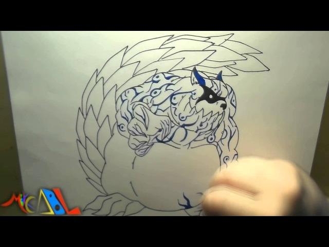 Snappy Drawing 67 Gaara (Bijuu Ichibi)