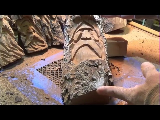 How to Carve Cottonwood Bark With Power
