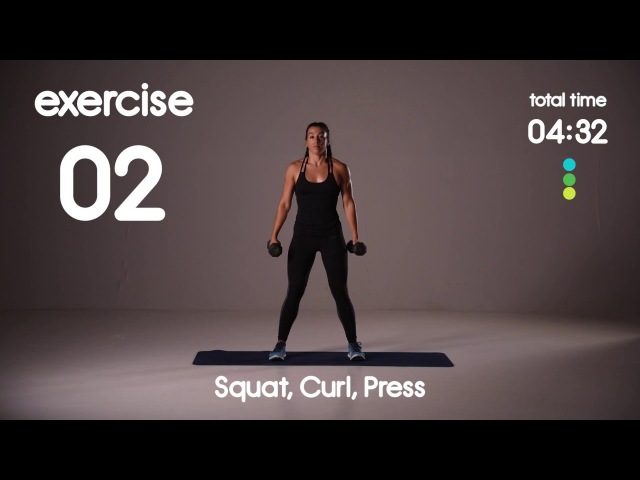 Full Body Cardio Core HIIT Workout Level 1 or 2 20s 20s 30s 20s Intervals