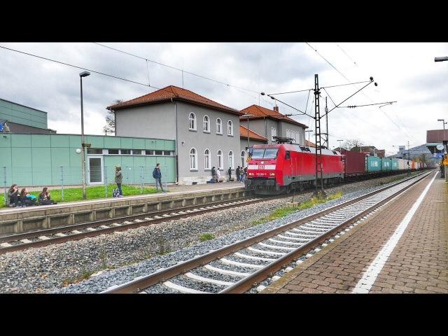 Booaah haben die einen engen Bahnsteig in Rotenburg an der Fulda in Nordhessen.........