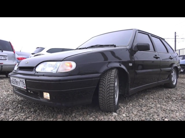 VAZ-2114 Lowered tinted with subwoofer