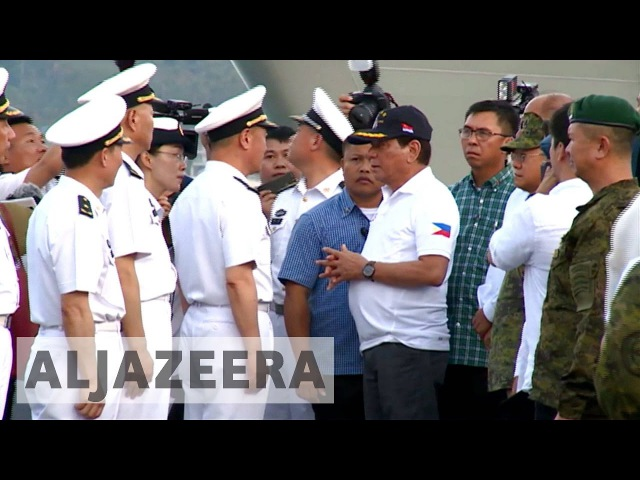 Philippines: Duterte welcomes visiting Chinese navy ships in Davao