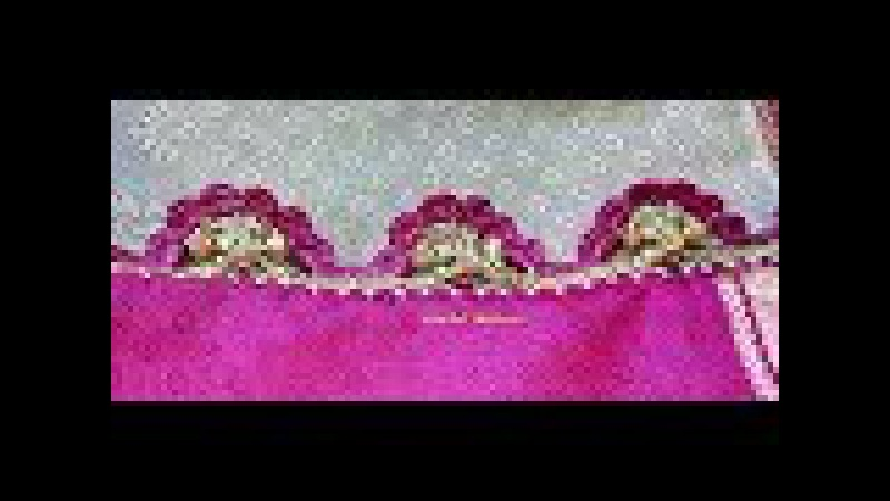 Crochet half flower saree kuchu design with beads / 6 petals arch saree tassels with beads