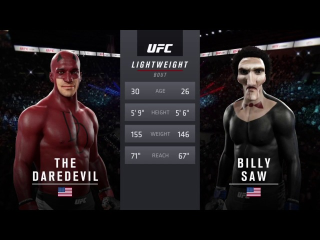 Сорвиголова и Билли Пила (EA Sports UFC 2)