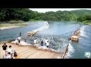 Необычная Рыбалка Смотрите как Люди, ради Ловли Рыбы в Реке, Ставят Приманки