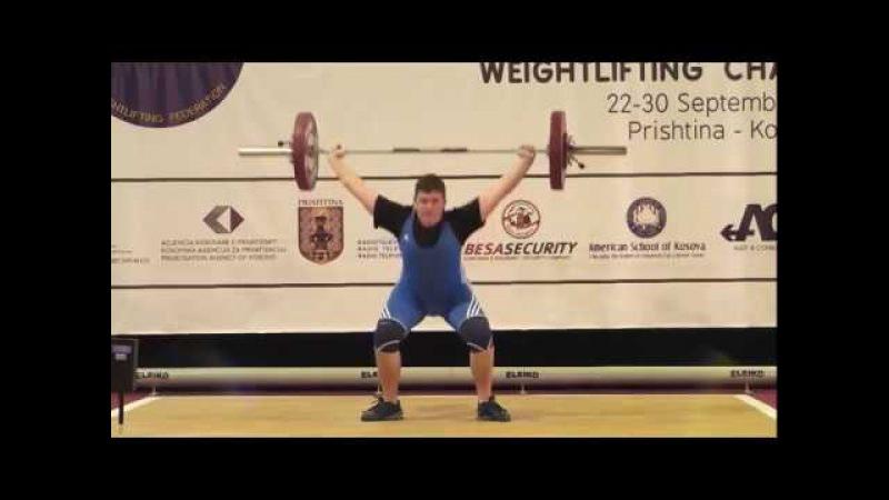 Men U15 94kg 2017 EUROPEAN WEIGHTLIFTING CHAMPIONSHIPS U15 U17