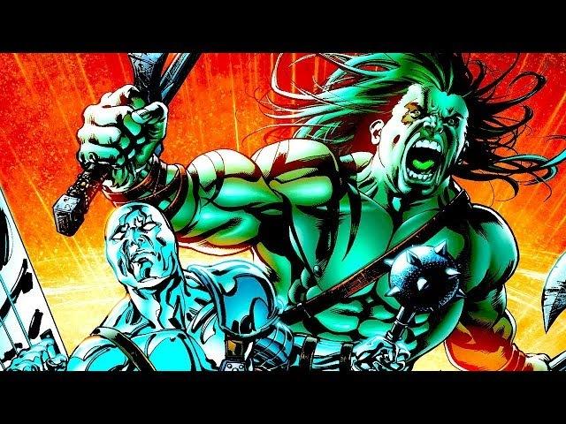 ДЕТИ ХАЛКА: СКААР ПРОТИВ СЕРЕБРЯНОГО СЕРФЕРА! \ Marvel Comics. Часть 3