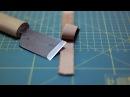 Как аккуратно срезать слой кожи How to skive leather strap easily Simple leather splitter