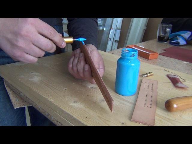 Обработка урезов паяльником с применением красок Orly