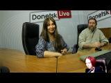 29092017 Сергей Тесла и Марина Орлова в студии Donetsk Live