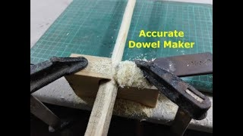How to make Wooden Dowels Homemade Dowel jig DIY Dowel maker