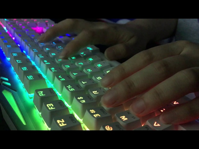 (ASMR) Typing on a Mechanical Keyboard /w No Talking