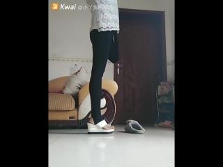 AKAE OOE amputee showing her new wedge shoe