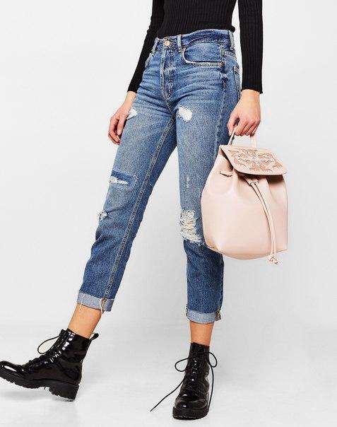 Мини-рюкзак с перфорацией