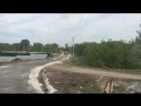 Укрепление дорожного полотна цементом в коттеджном посёлке  Усадебный берег на берегу реки Лосиха