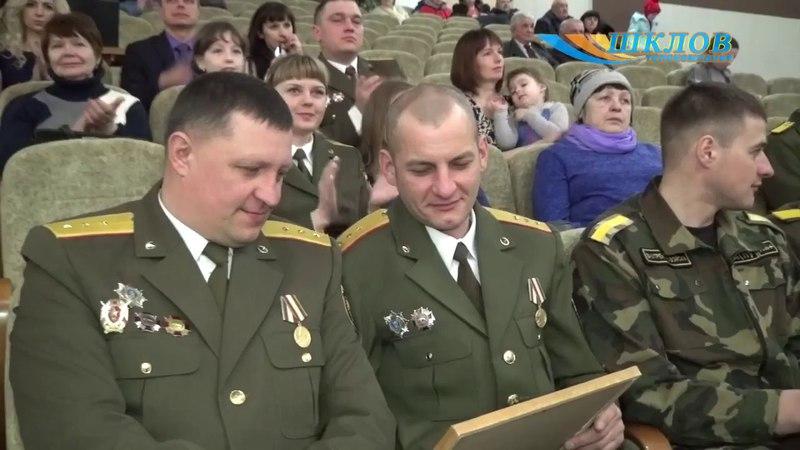 Ваеннаслужачыя ўнутранных войскаў адзначылі прафесійнае свята ўрачыстым мерапрыемствам