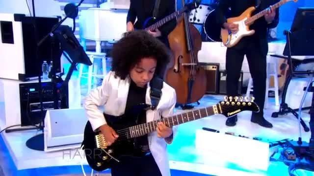 "Harry Connick Jr on Instagram: ""ICYMI: 9-year-old guitarist Marel Hidalgo can play! Check out this kid in action! ShowUsWhatYouGot HarryTV"""