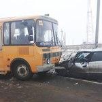 В ДТП со школьным автобусом в Алатырском районе пострадали 3 человека