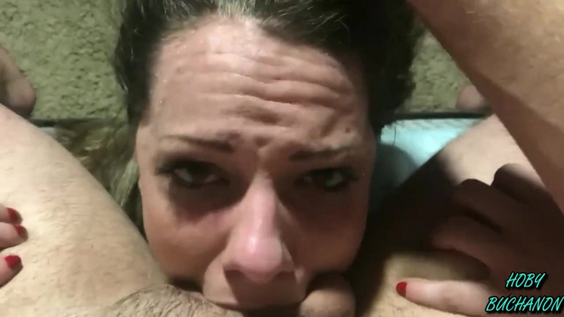 Girl in Pigtails gets a Hard Gagging Rough POV Face