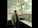 Кухня с крашеными матовыми фасадами