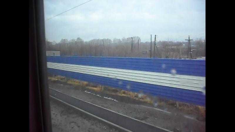 Электропоезд ЭД9М-0232. Покатушки от Укладочного до 17км.