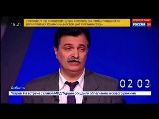 Болдырев Ю.Ю. - доверенное лицо Грудинина П.Н., на дебатах 14.03.2018 на канале Россия24