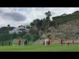 «Скажи, куда ты бьешь, болгарский перец!»: Игроки «Рубина» отрабатывают штрафные