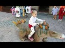 Bad Baby Along In The Dinopark Play With Giant Dinozaurus Funny Outdoor Entertainment for kids