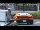 Полицейский на велосипеде догоняет Lamborghini
