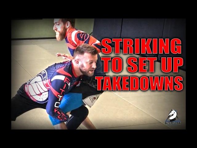Jiu-Jitsu Striking Entries to Takedowns