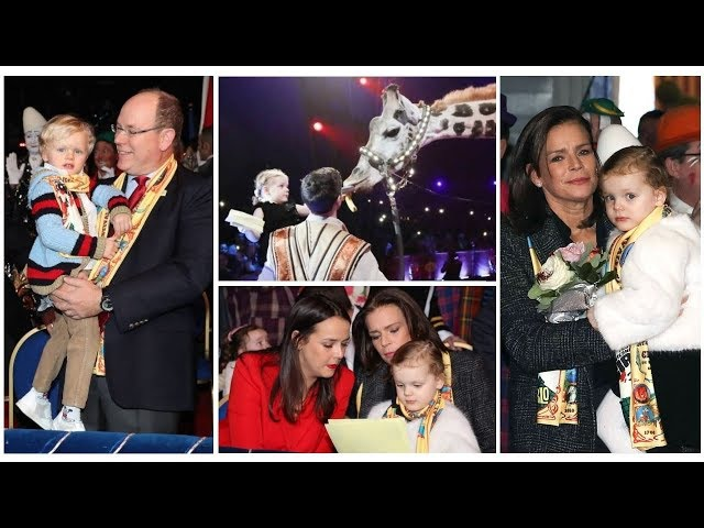 FIRST TIME AT CIRCUS Royal Twins joined Aunt Stéphanie and Prince Albert at Circus Festival
