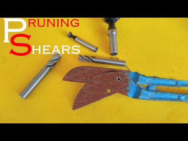 Pruning Shears Making Knife From ( budama makasından güçlü bıçak yapma)