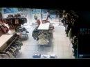РИО Дмитровка Москва. Пожар 10.06.2017г. запись с камеры видио наблюдения из магазина