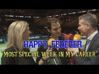 Federer Interview Rotterdam 2018: