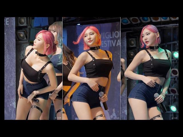 171022 포켓걸스 Pocket Girls 채아 - 빵빵 (신발프로젝트 밀리오레) 직캠 fancam by zam