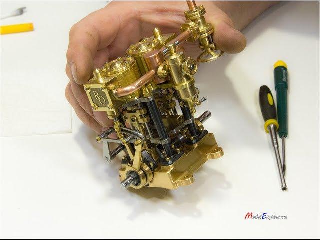 Установка насоса на двигатель. Морской двухцилиндровый. Часть 8.