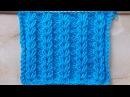 Ажурные дорожки Колоски Вязание спицами Видеоурок 202