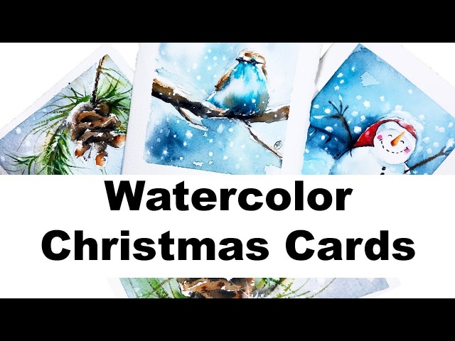 Watercolors - Easy Holiday Cards Painting Tutorial