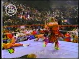 ULTIMATE WARRIOR HELP SHAWN MICHAELS &amp AHMED JOHNSON - 1996