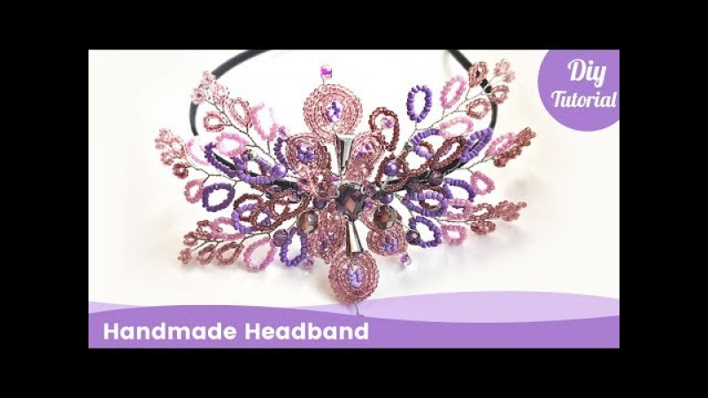 DIY Headband from Beads. Handmade Hair Accessories Ideas.